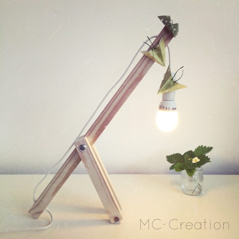 Atelier cr atif d avril r alisation d une lampe de table mc creation - Lampe au dessus d une table ...